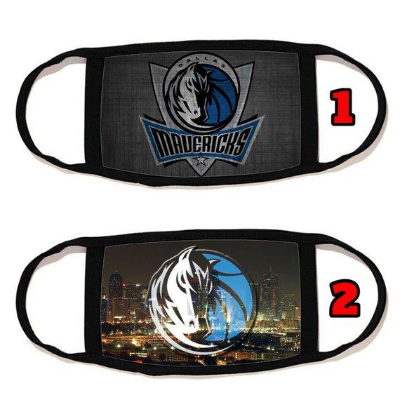 2 PACKS Dallas Mavericks face mask face cover  reu
